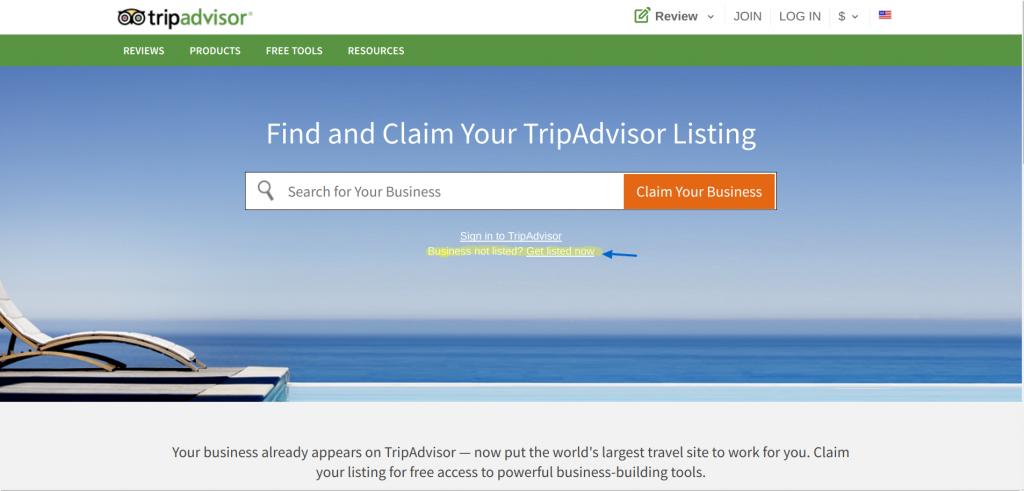 Claim TripAdvisor Listing