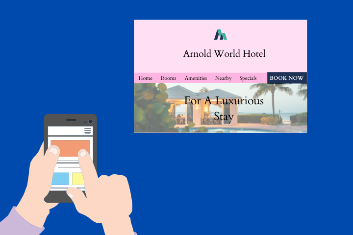 direct hotel bookings user-friendly website