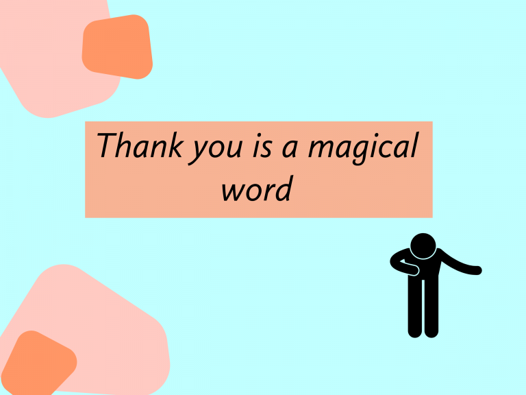Thank you is a logical word