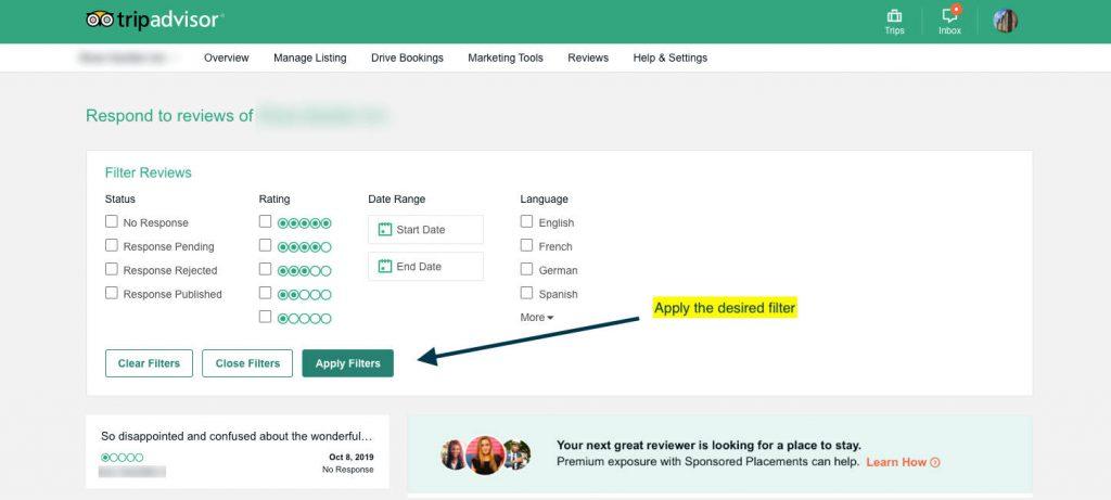 respond to Tripadvisor hotel reviews step 5