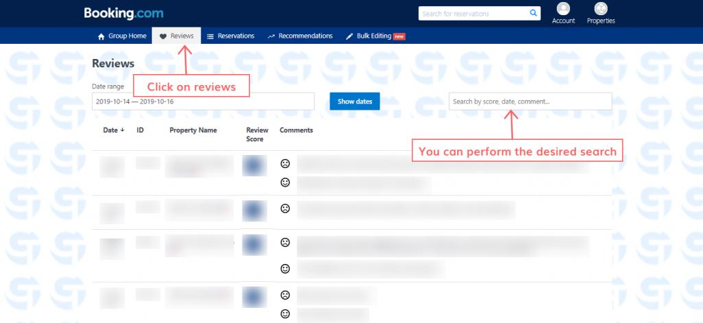 respond to the reviews on Booking.com step 4
