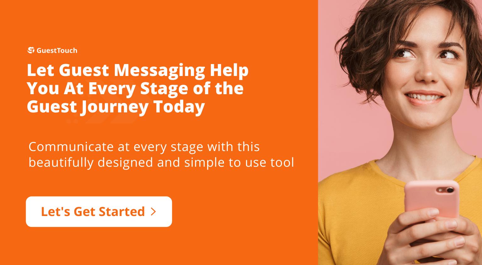 text messaging tablet CTA