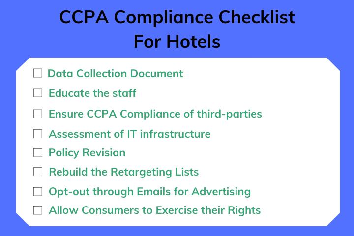 Hotel CCPA Compliance Checklist