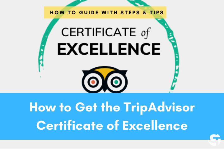 TripAdvisor Certificate of Excellence Banner