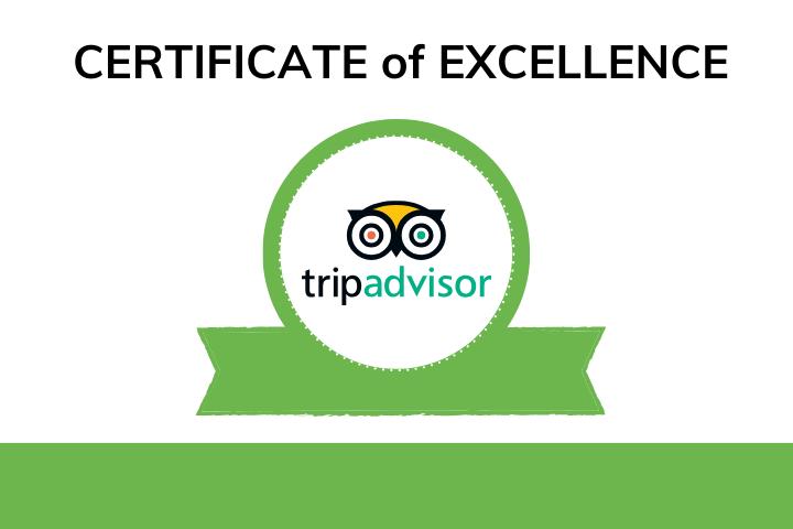 TripAdvisor Excellence Certificate