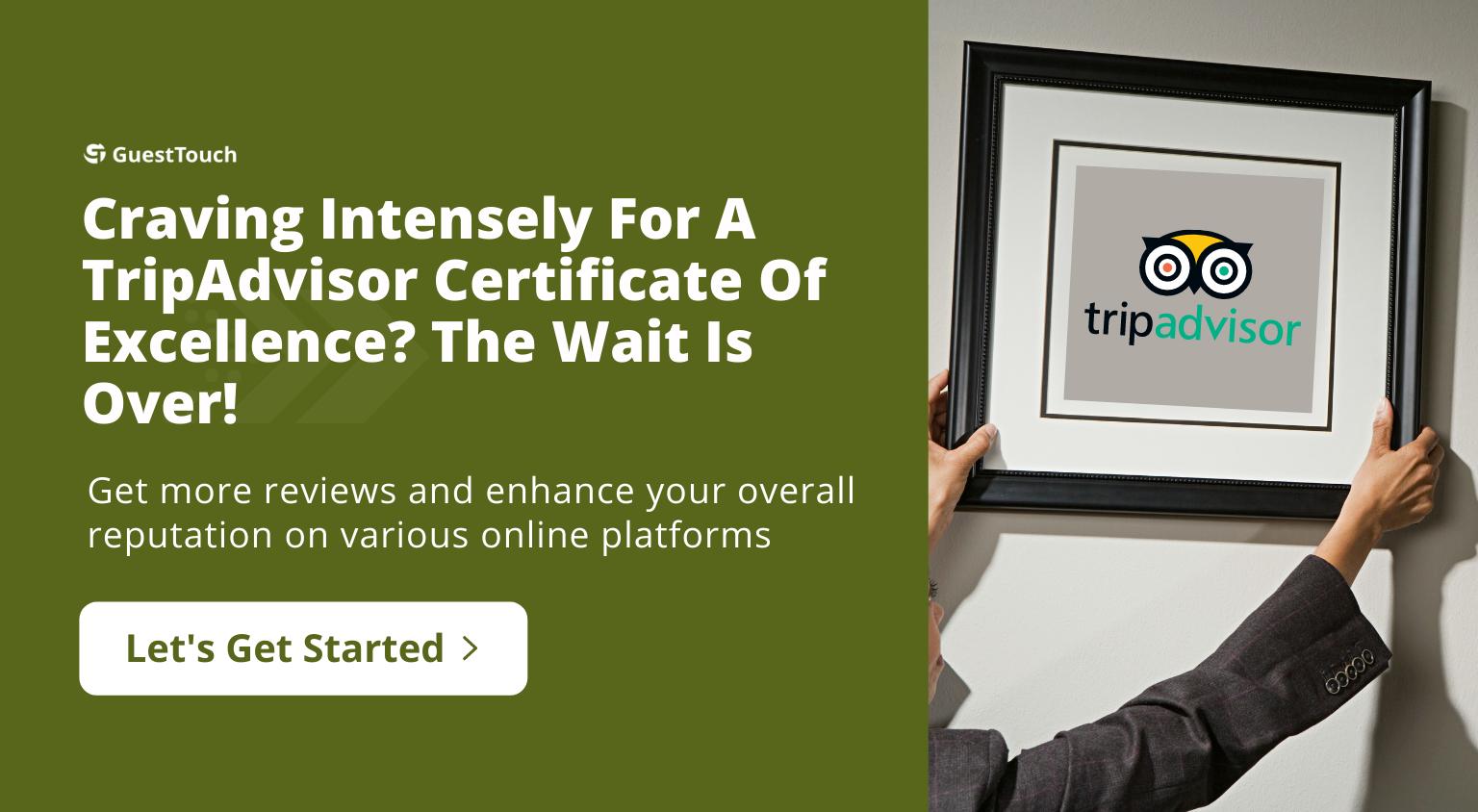 TripAdvisor Certificate tablet CTA