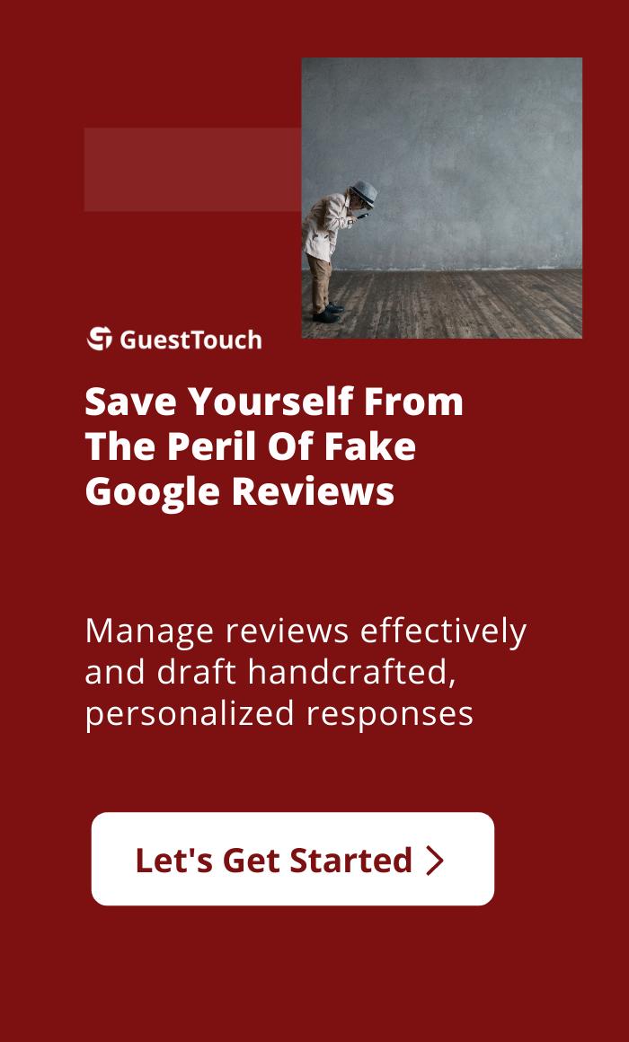 fake Google reviews mobile CTA