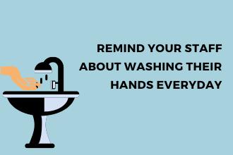 Staff handwashing amid Coronavirus