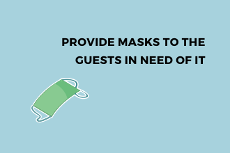 masks to hotel guests