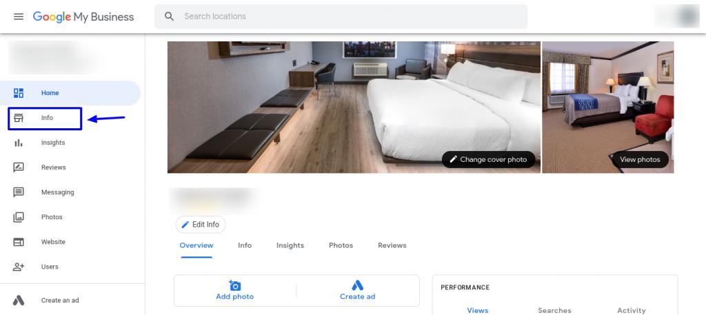 Add Hotel Website on GMB Step 2