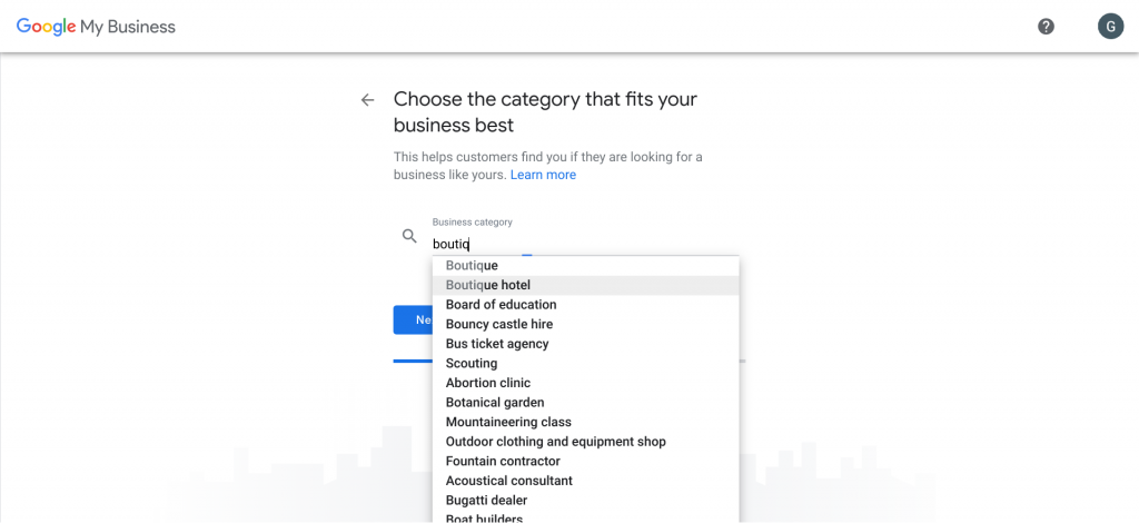 Add Google Business Category