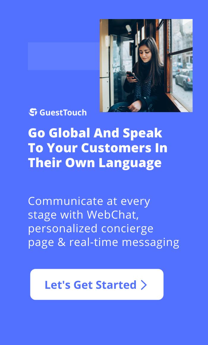 guest messaging mobile CTA