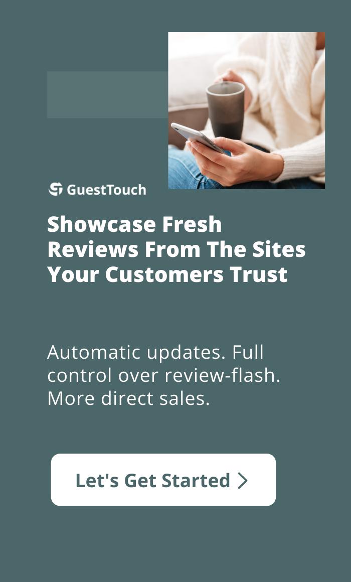 review widget mobile CTA