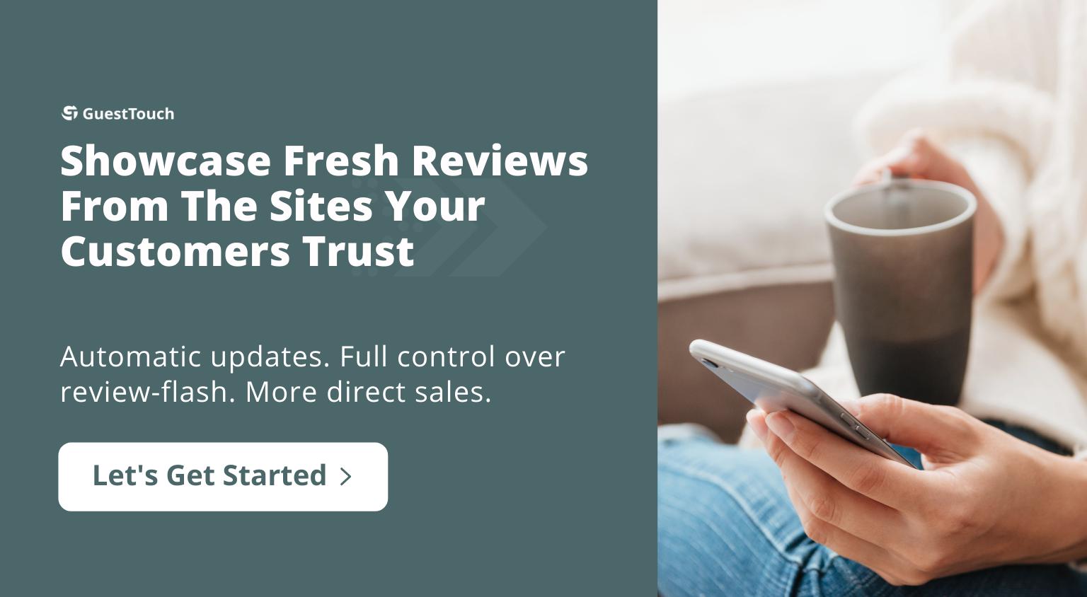 review widget tablet CTA