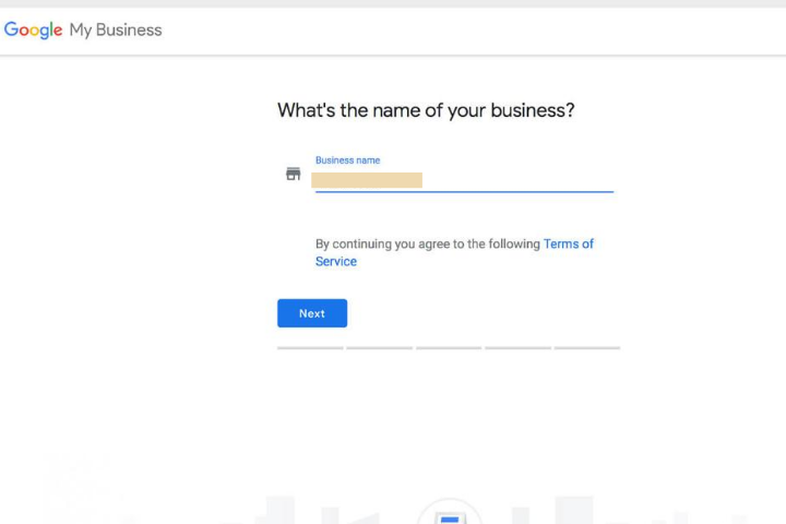 Google My Business for hotels business name