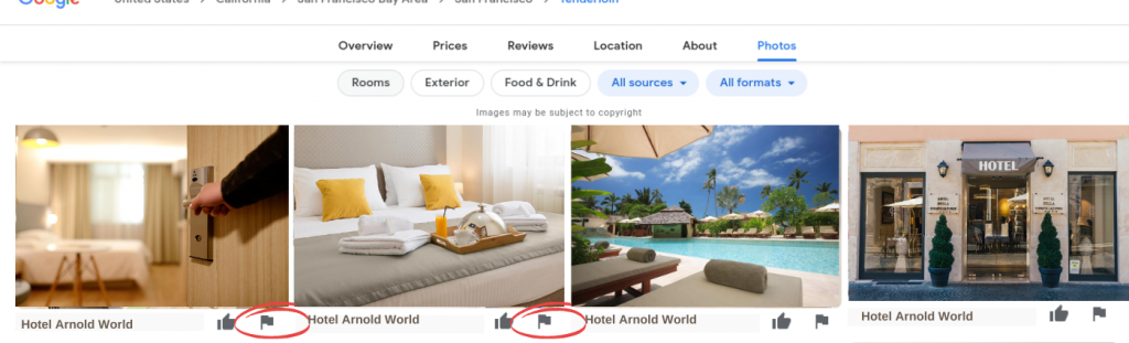 Google My business for hotels removing photos