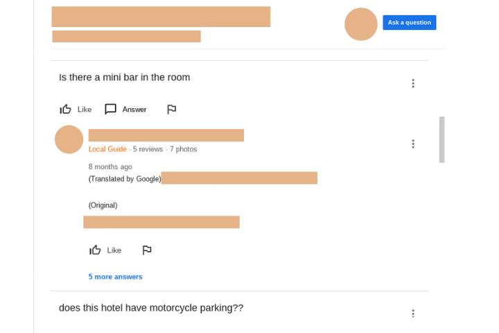 Google My Business For Hotels Questions and answers 3