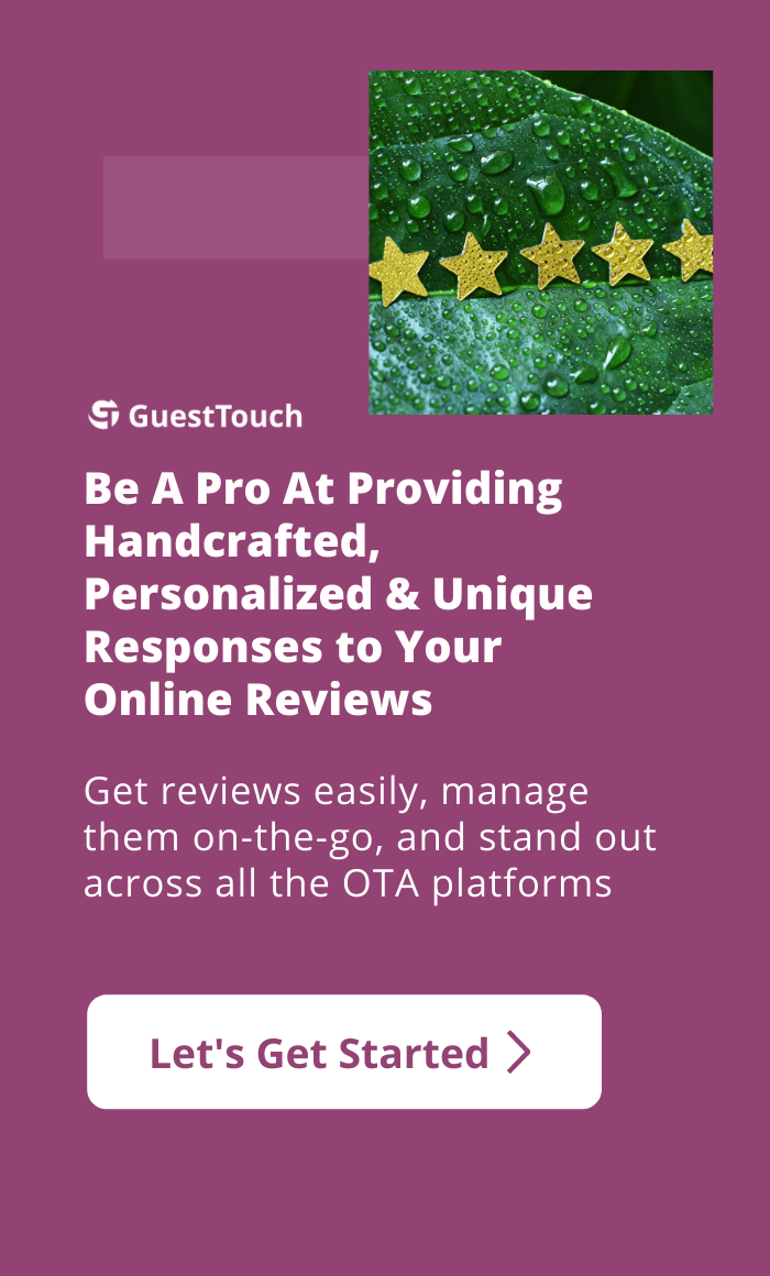 most common hotel reviews during COVID mobile CTA