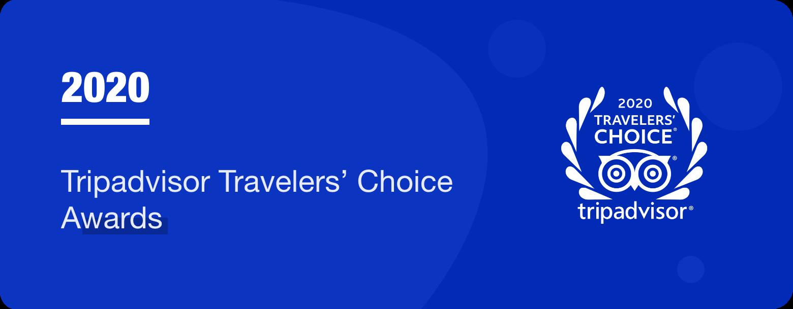 Travelers' choice awards by Tripadvisor