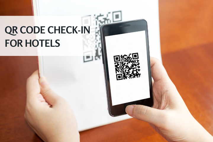 hotel online check-in system qr code scan