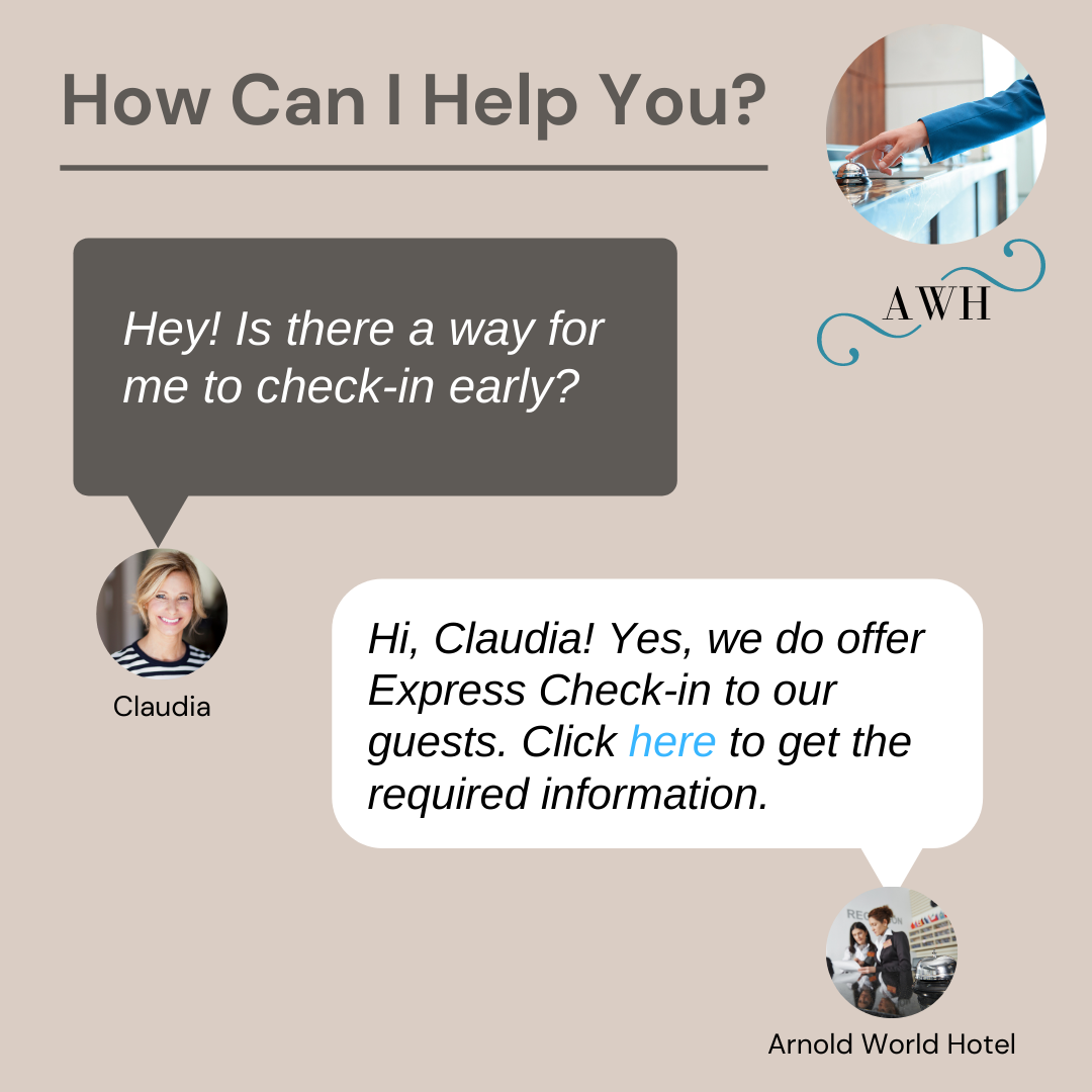 hotel online check-in system live chat