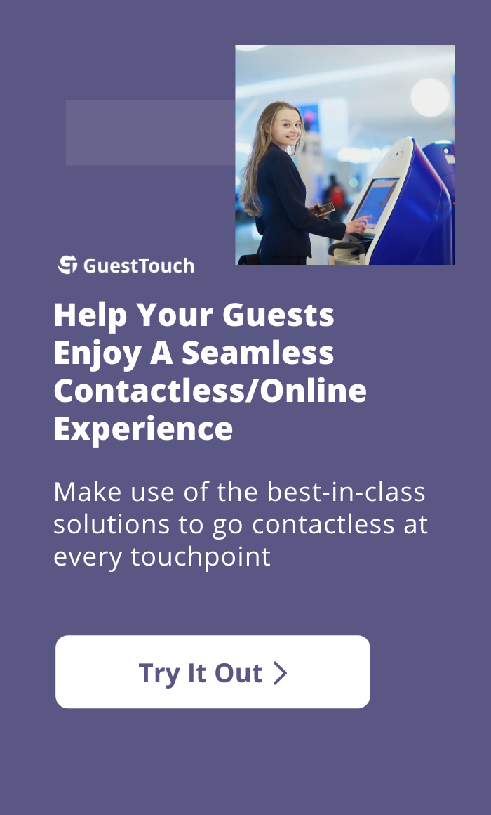 Express check-in mobile CTA