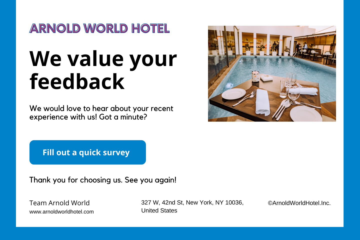 survey feedback email template for hotel guests