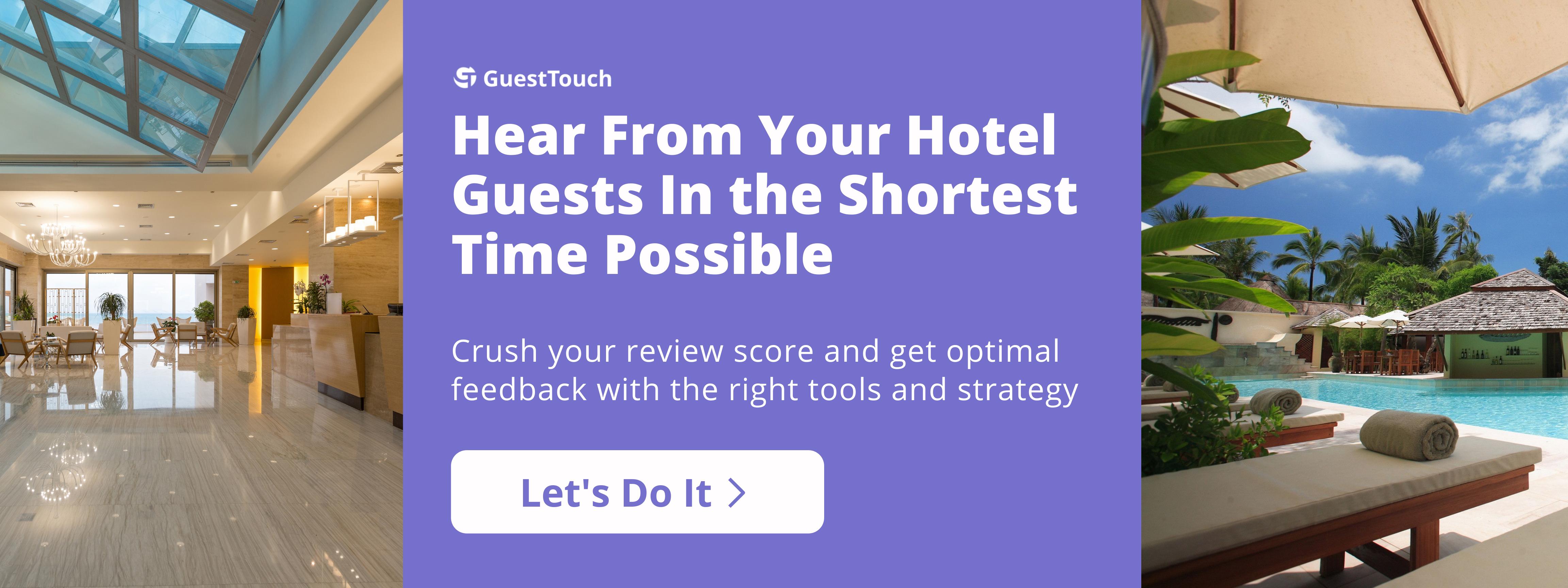 alternate guest feedback for hotels CTA