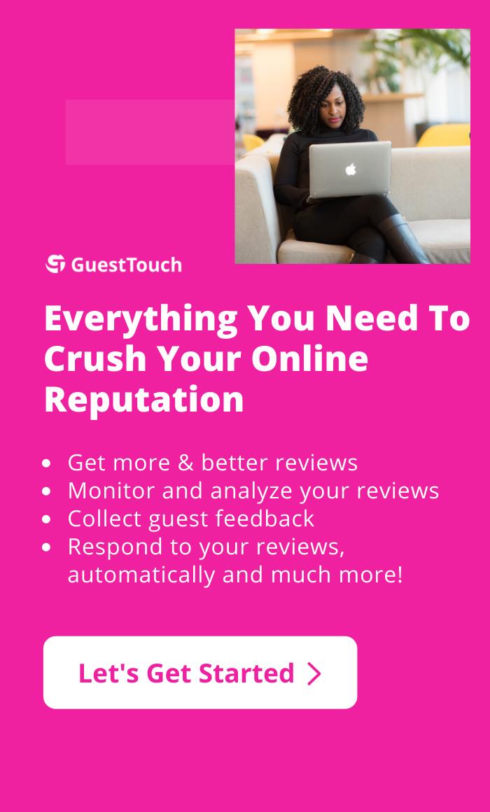 hotel online management of reputation mobile CTA