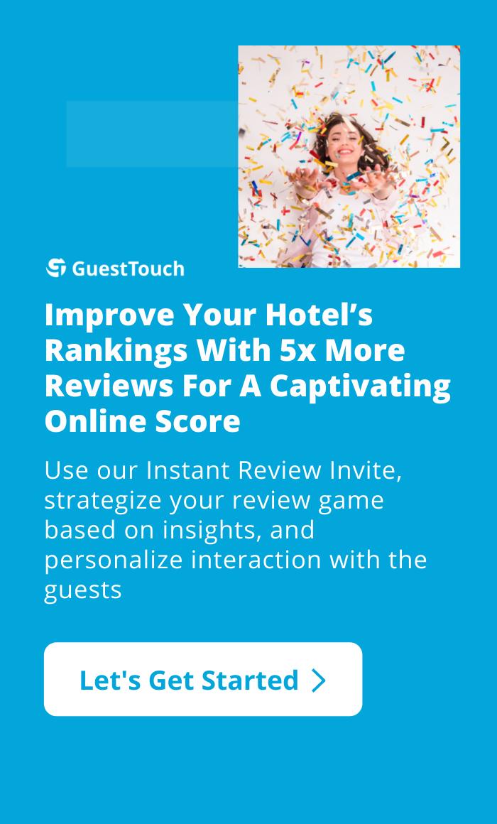 online reputation management for hotels mobile CTa