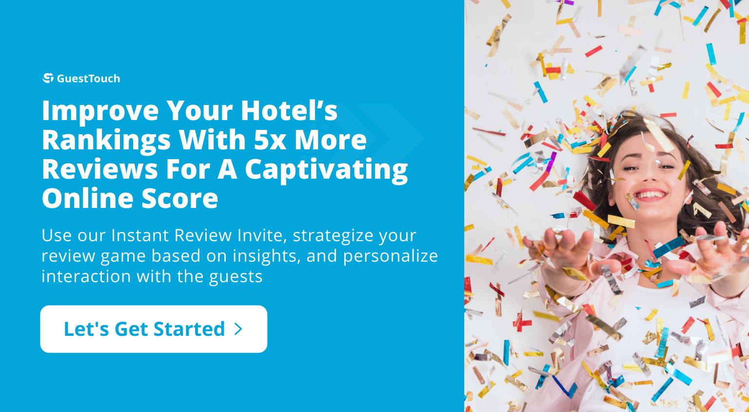 reputation management for hotels tablet CTA