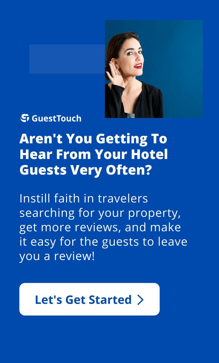 hotel online reviews mobile CTA