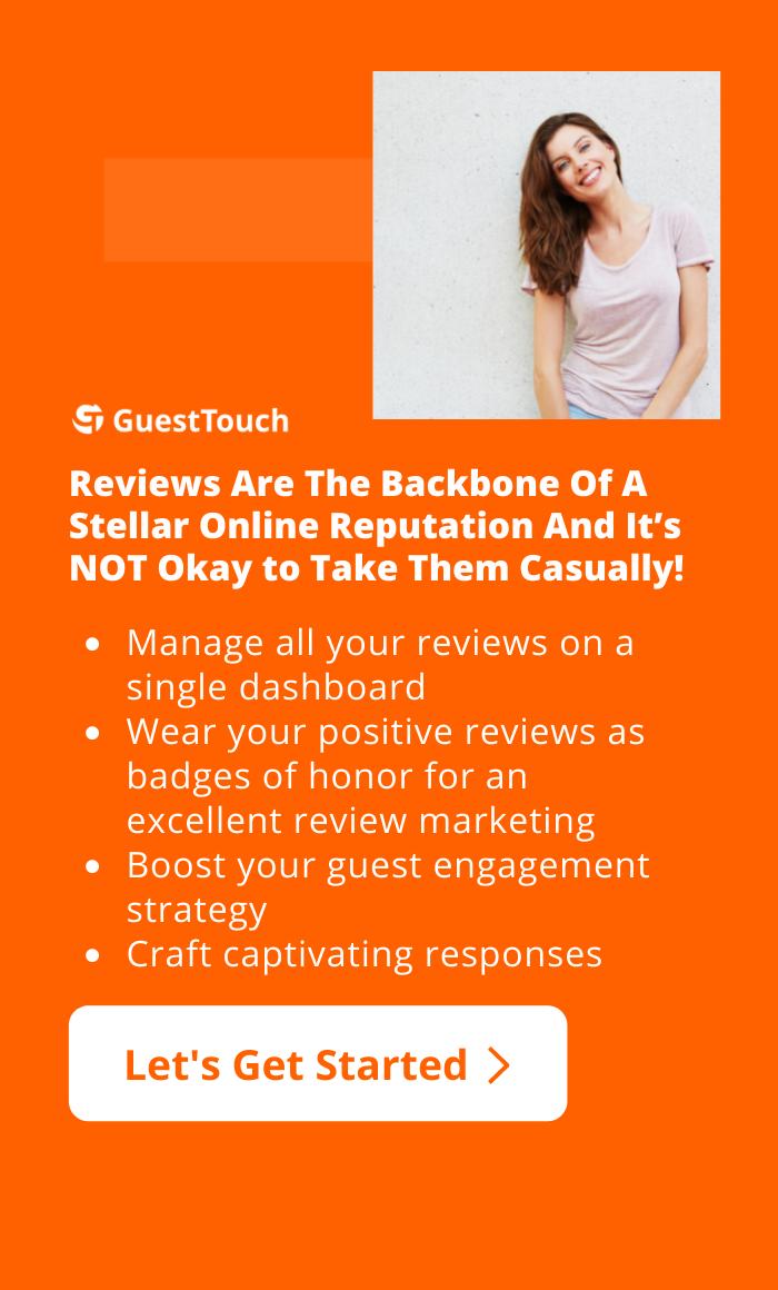 online reputation for hotels mobile CTA