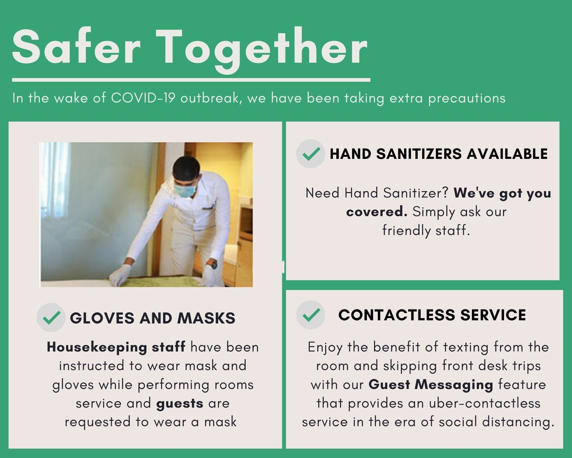 Safer Together Anaheim Discovery Inn and Suites Safe Covid
